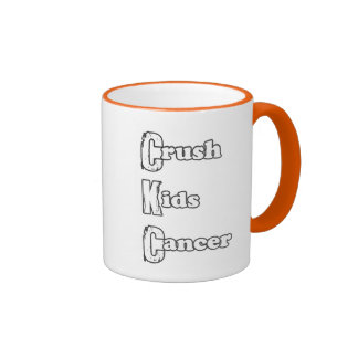 """Crush Kids' Cancer"" Orange Mug"