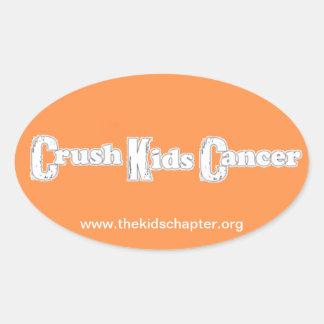 """""""Crush Kids Cancer"""" Orange Sticker"""