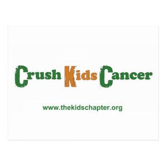 Crush Kids Cancer Postcard