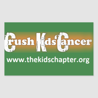 """""""Crush Kids' Cancer: The Kids' Chapter"""" Stickers"""