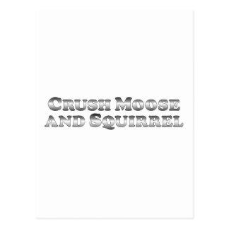 Crush Moose and Squirrel - Basic Postcard