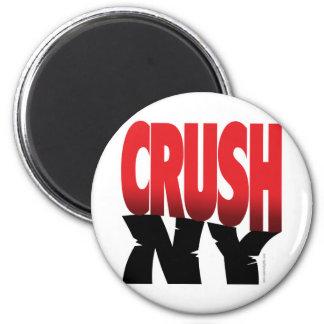 Crush NY... 2 Inch Round Magnet