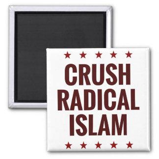 Crush Radical Islam 2 Inch Square Magnet
