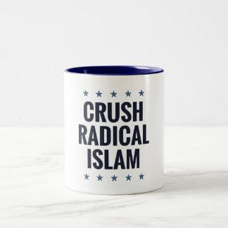 Crush Radical Islam Two-Tone Coffee Mug