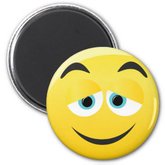 Crush Smiley 2 Inch Round Magnet