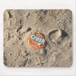 Crush Soda top in sand mouse pad