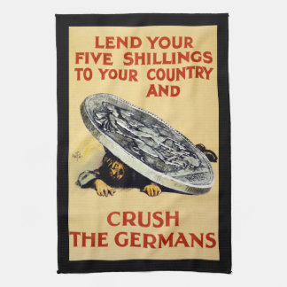 Crush The Germans Hand Towel