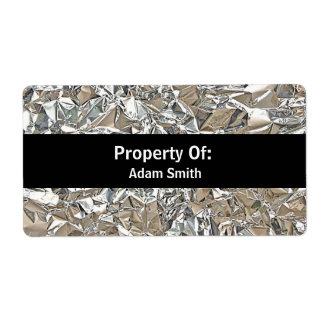 Crushed Aluminum Label