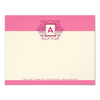 Crushed Berry Fancy Frame Monogram Note Cards