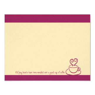 Crushed Berry Mended Hearts Coffee Cup Note Cards