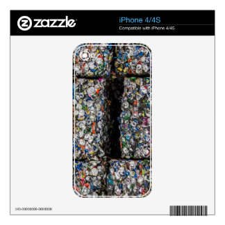 Crushed Cans iPhone 4 4S Skin iPhone 4 Skin