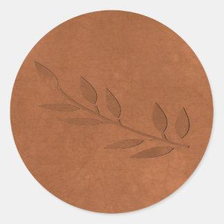 Crushed Copper Classic Round Sticker