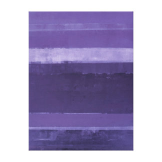 'Crushed Grapes' Purple Abstract Art Canvas Print