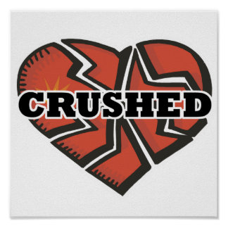 crushed heart poster