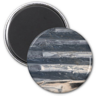 Crushed Metal 2 Inch Round Magnet