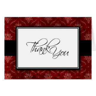 Crushed Red Velvet Elegant Wedding Thank You Card