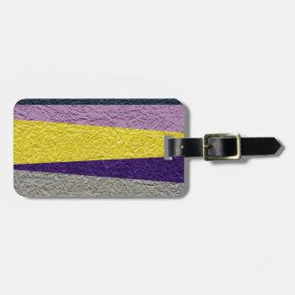 Crushed Strips Travel Bag Tag