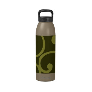 Crushed Velvet Swirls in Cool as a Cucumber Camo Reusable Water Bottle