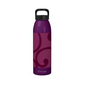Crushed Velvet Swirls in Cranberry Craze Water Bottle