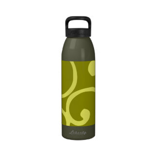 Crushed Velvet Swirls in Lemon Lime Water Bottle