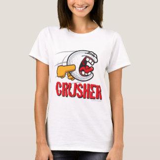 Crusher Cartoon Golf Ball For A Long Ball Hitter T-Shirt