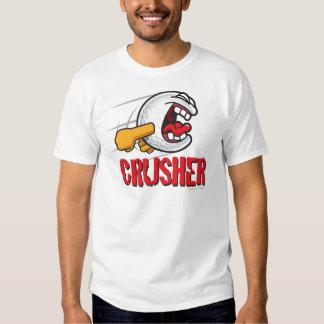 Crusher Cartoon Golf Ball For A Long Ball Hitter T Shirt