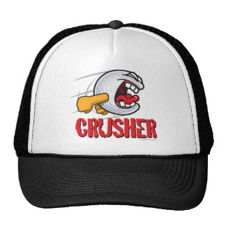 Crusher Cartoon Golf Ball For A Long Ball Hitter Trucker Hat