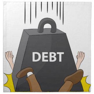 Crushing Debt Cartoon Anvil Cloth Napkin