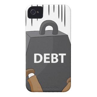 Crushing Debt Cartoon Anvil iPhone 4 Cover
