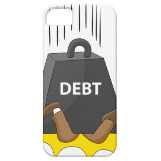 Crushing Debt Cartoon Anvil iPhone SE/5/5s Case