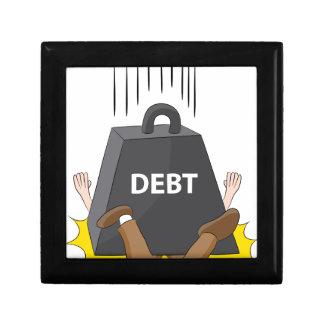 Crushing Debt Cartoon Anvil Jewelry Box
