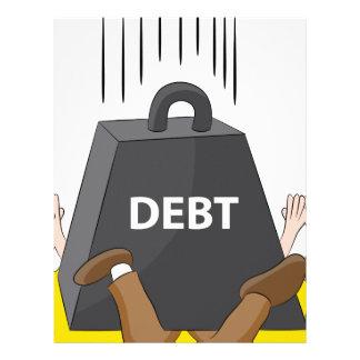 Crushing Debt Cartoon Anvil Letterhead