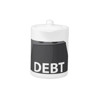 Crushing Debt Cartoon Anvil Teapot