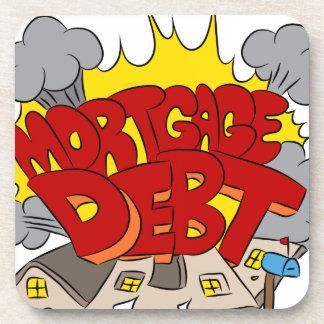 Crushing Mortgage Debt Cartoon Drink Coaster