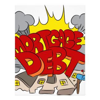 Crushing Mortgage Debt Cartoon Letterhead