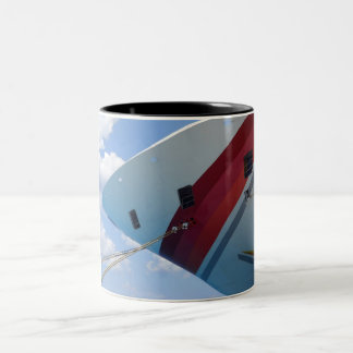 Crusing from a different angle. Two-Tone coffee mug