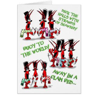 Crustacean Carols! Cards