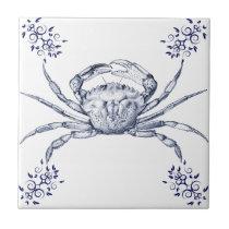 Crustaceans Ceramics ~ Green Crab Ceramic Tile