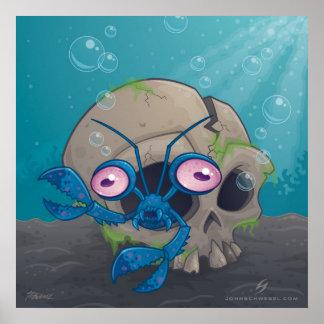 Crustáceos del ojo póster