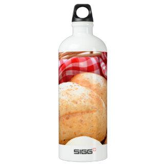 Crusty bread rolls aluminum water bottle