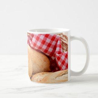 Crusty bread rolls coffee mug