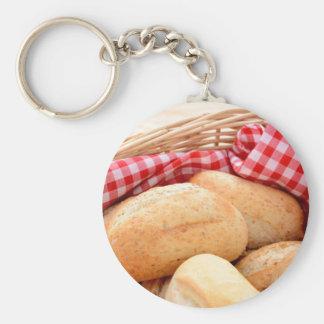 Crusty bread rolls keychain