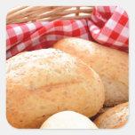 Crusty bread rolls sticker
