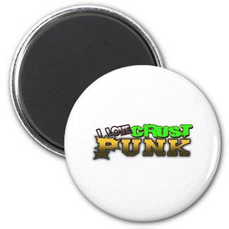 Crusty Punkrock Punk music CRUST PUNK 2 Inch Round Magnet