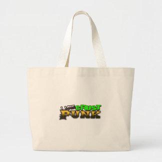 Crusty Punkrock Punk music CRUST PUNK Tote Bags