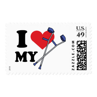 Crutch Love Postage Stamps