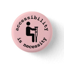 crutches: accessibility is necessity button