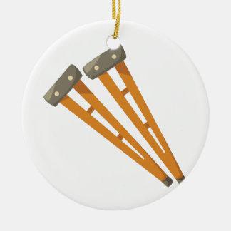 Crutches Ceramic Ornament