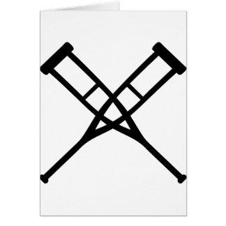 crutches crossed card