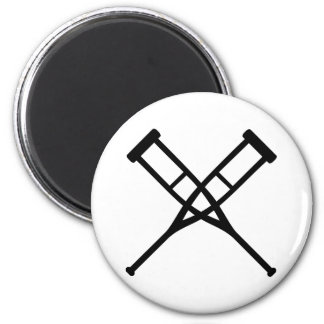 crutches crossed magnet